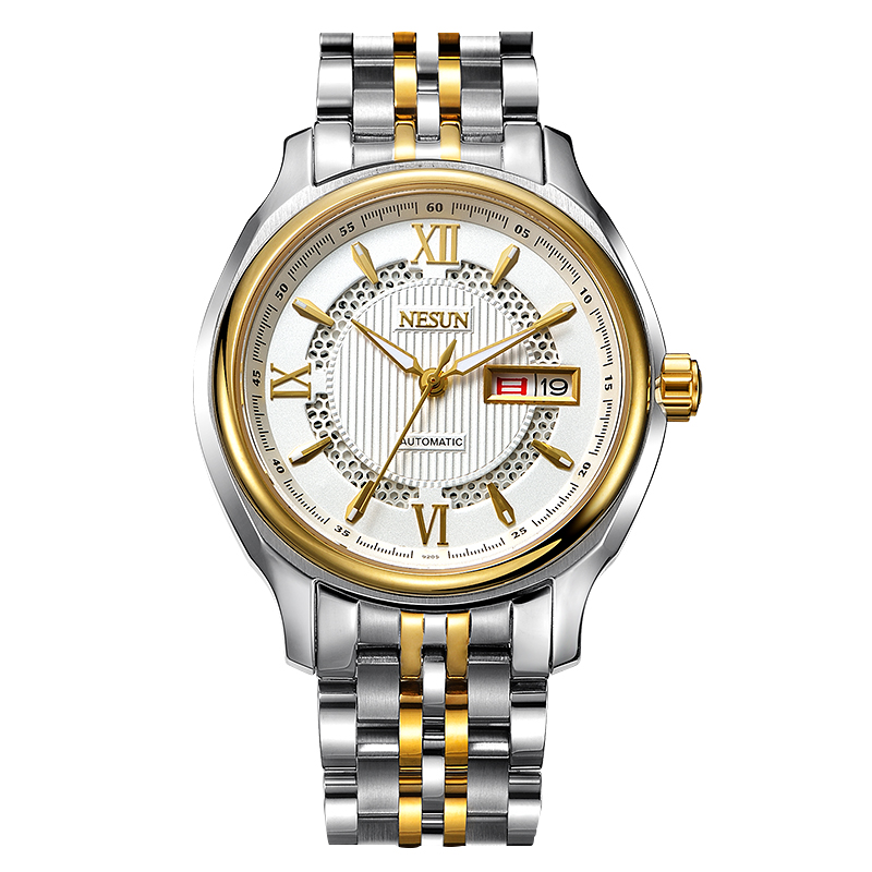 Switzerland Nesun Japan Seiko NH36A Auto Movement Watch Men Luxury Brand Men's Watches Sapphire Full Stainless Steel N9205-5 seiko watch premier series sapphire chronograph quartz men s watch snde23p1