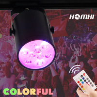living room party club lighting fixtures 9w 12w track light RGB led remote control dimmable wireles modern spotlight rail lamp