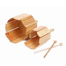 Музыкальный инструмент детская ударная деревянная игрушка Мульти звуковая трубка