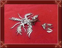 Miao Silver Phoneix Hair Stick Hanfu Accessories Traditional Antique Pinach Artwork Fully Handmade Palace Accessory For