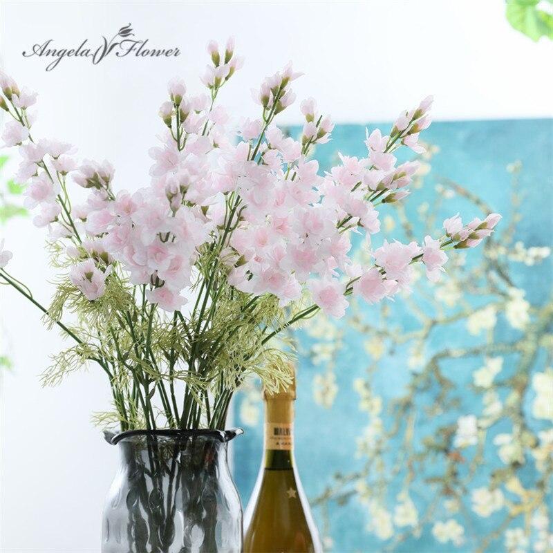 Bunga Gladiol Buatan Putih Autum Violet Orchid Sutra Dekorasi