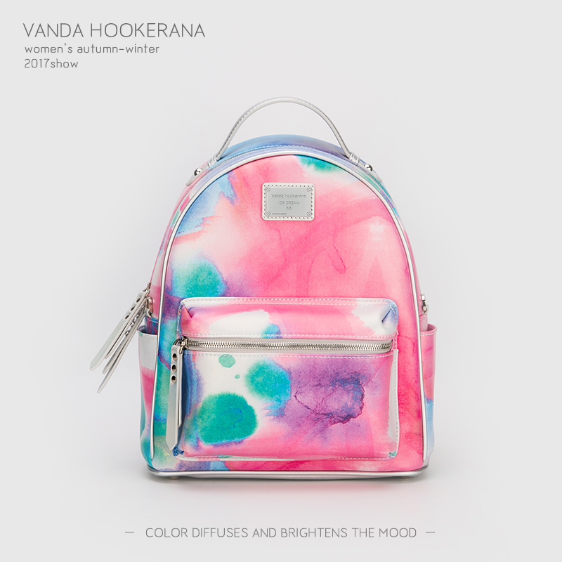 Vanda Hookerana 2017 Women Backpack Colorful Fashion Art Bags Blueberry Color Female Personality Trend Bags Microfiber Backpack vanda robert s delight купить