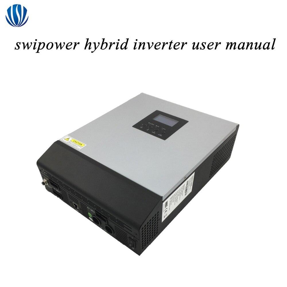 Híbrido Inversor 3KVA/5KVA PWM/MPPT Fora Da Rede de Onda Senoidal Pura Inversor Solar 24 v/48 v carregador de bateria