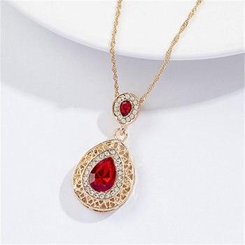 Luxury  Gold rhinestone crystal Jewelry Set 5