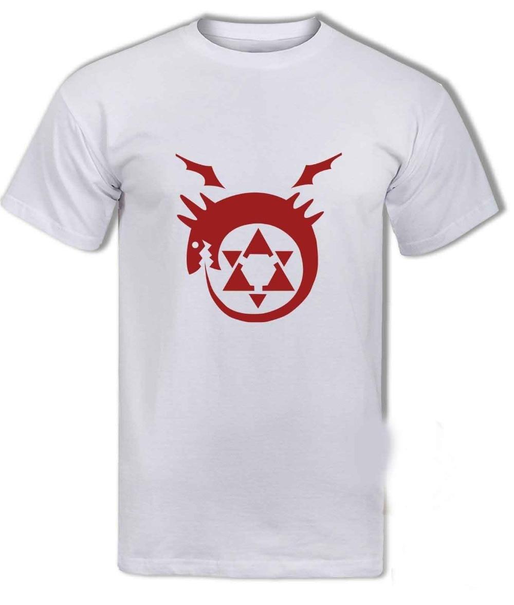 Men Anime t Homunculus Ouroboros Edward Alphonse Fullmetal Alchemist T-shirt