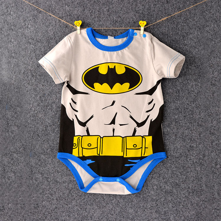 HTB1.2vOkHorBKNjSZFjq6A SpXaL 2018 Summer Newborn Baby Girl Clothes Cartoon Baby Boy Rompers Spiderman Batman Unisex Baby Rompers Cartoon Animal Clothing Set