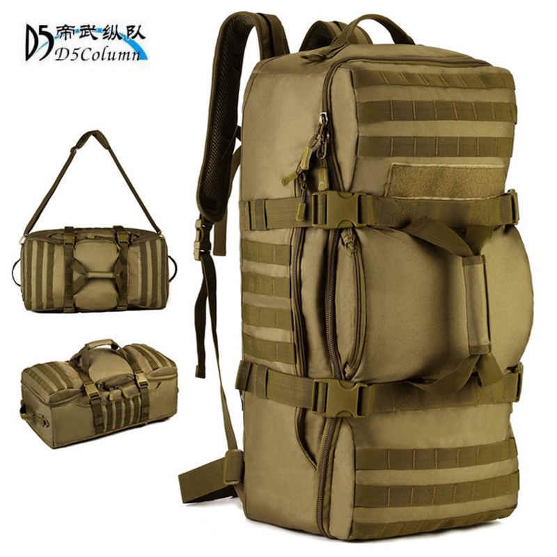 "60 litres bags multi-purpose travel backpack large 3D  Military Backpack 17""Laptop Leisure Fashion Travel Bag Dual-use bags wear"