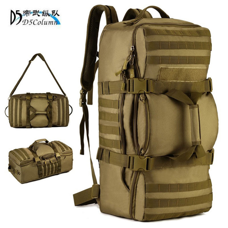 60 litres bags multi-purpose travel backpack large 3D Military Backpack 17Laptop Leisure Fashion Travel Bag Dual-use bags wear bags 60 l waterproof backpack military 3 p backpack high grade fashion 17 inch laptop bag dual use travel d5 column men s bag