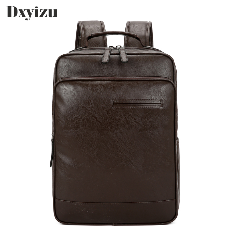 Casual Men's Business Large Capacity Leather Backpack Youth Travel Sheepskin Leisure Simple Men Shoulder Bags High Quality Bag