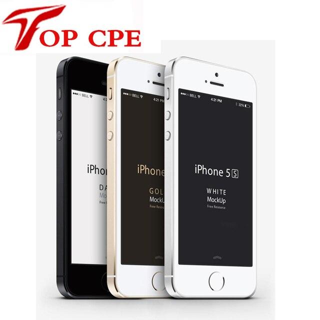 Разблокирована Оригинальный iPhone 5s 16 GB/32 ГБ ROM 8MP камера 1136x640 пикселей WI-FI GPS Bluetooth Сотовый телефон добавить стекла протектор фильм