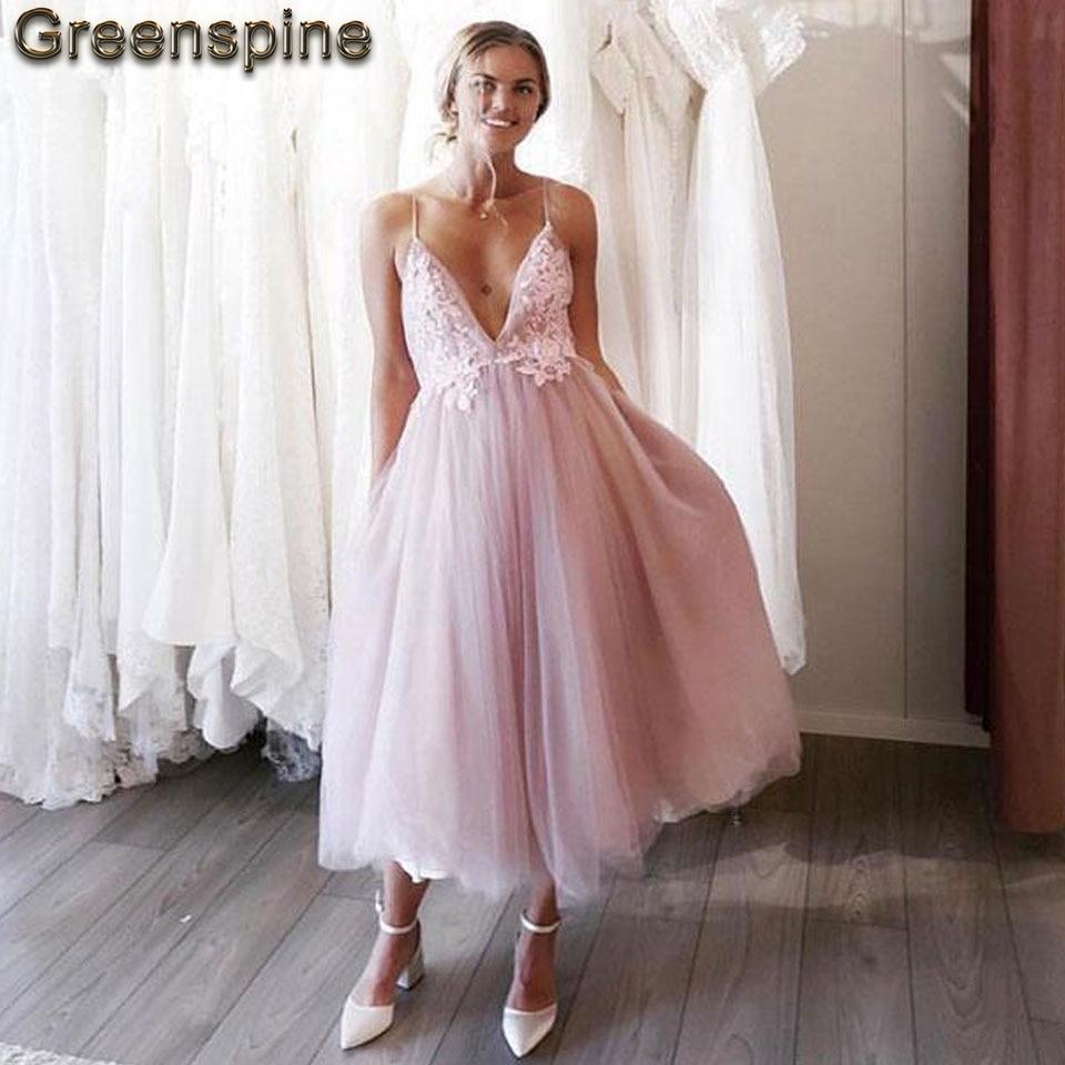 Blush Pink Short Wedding Dress 2019 Robe Mariee Sirene