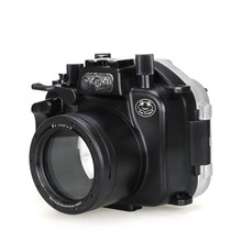 Meikon 40m/130ft Underwater Camera Housing For Canon EOS M5 (18-55mm) Waterproof Camera Diving Case For Canon EOS M5 (18-55mm) meikon 40m wp dc44 waterproof underwater housing case 40m 130ft for canon g1x camera 18 as wp dc44