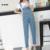 Del Otoño Del resorte Elástico de Maternidad Pantalones Vaqueros Pantalones de Mezclilla para Las Mujeres Embarazadas Embarazadas Vientre Embarazo Overol Pantalones de La Liga