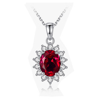 Ruby Pendants S925 Sterling Silver Pendants For Womens YY Fine Jewelry Bands Classic Pendant