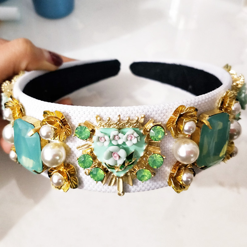Новый тренд роскошная бархатная корона в стиле барокко Хрустальный