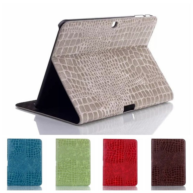 PU Crocodile Leather Stand Cover for Samsung Galaxy Tab 4 10.1 T530 T531 T535 Tablet Business Ultra Thin Flip Case+stylus+screen business folding smart pu leather book cover case for samsung galaxy tab 4 10 1 t530 t531 t535 tablet screen protector stylus