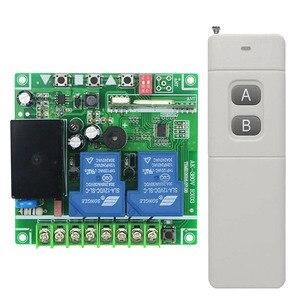 Image 2 - AC220V 250 V 380 V 30A 2CH 100 מתג שליטה מרחוק ארוך טווח 3000 m משדר + מקלט עבור דלת מוסך שער מכשירי חשמל