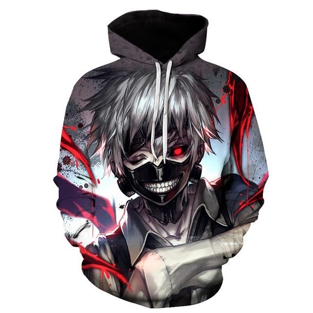 Tokyo Ghoul 3D Hoodies