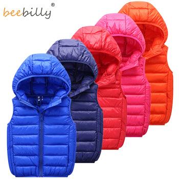Kamizelka dziecięca kamizelka dziecięca kamizelka z kapturem zimowa jesień kamizelki dla chłopca odzież wierzchnia dla dzieci płaszcze duże nastolatki ubrania dla dziewczynek tanie i dobre opinie BEEBILLY COTTON POLIESTER CN (pochodzenie) moda Kurtki płaszcze g136 Dobrze pasuje do rozmiaru wybierz swój normalny rozmiar