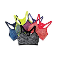 EMPITOR  Women Fitness Yoga Sports Bra for Running Gym Straps Padded Top Athletic Vest Quick Dry Sport Bra for Women 5 Colors