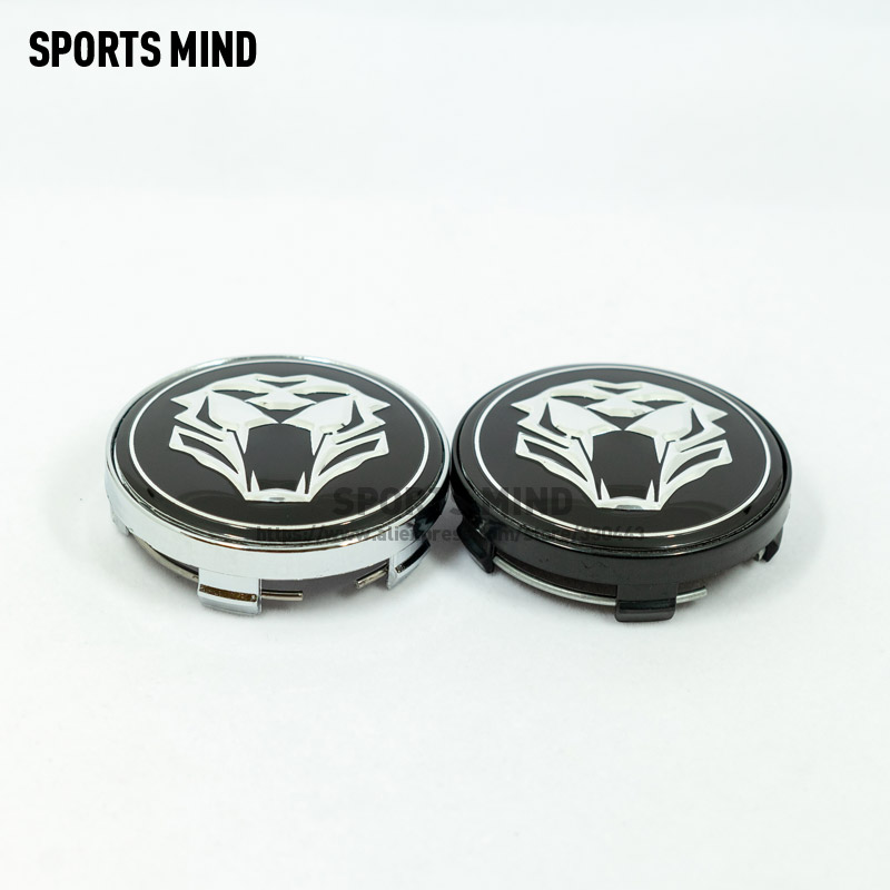 4 X 60MM TIGER HEAD Car Wheel Center <font><b>Hub</b></font> <font><b>Caps</b></font> for Jaguar Audi <font><b>BMW</b></font> Nissan Toyota Mazda car Styling accessories image