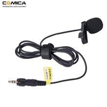 Comica CVM M O2 3.5mm Lavalier מיקרופון Omnidirectional דש מיקרופון עבור Sony אלחוטי מיקרופון משדר