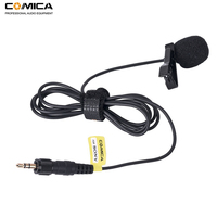 Comica CVM M O2 3.5mm Lavalier Microphone Omnidirectional Lapel Microphone Input Line for Sony Wireless Microphone Transmitter