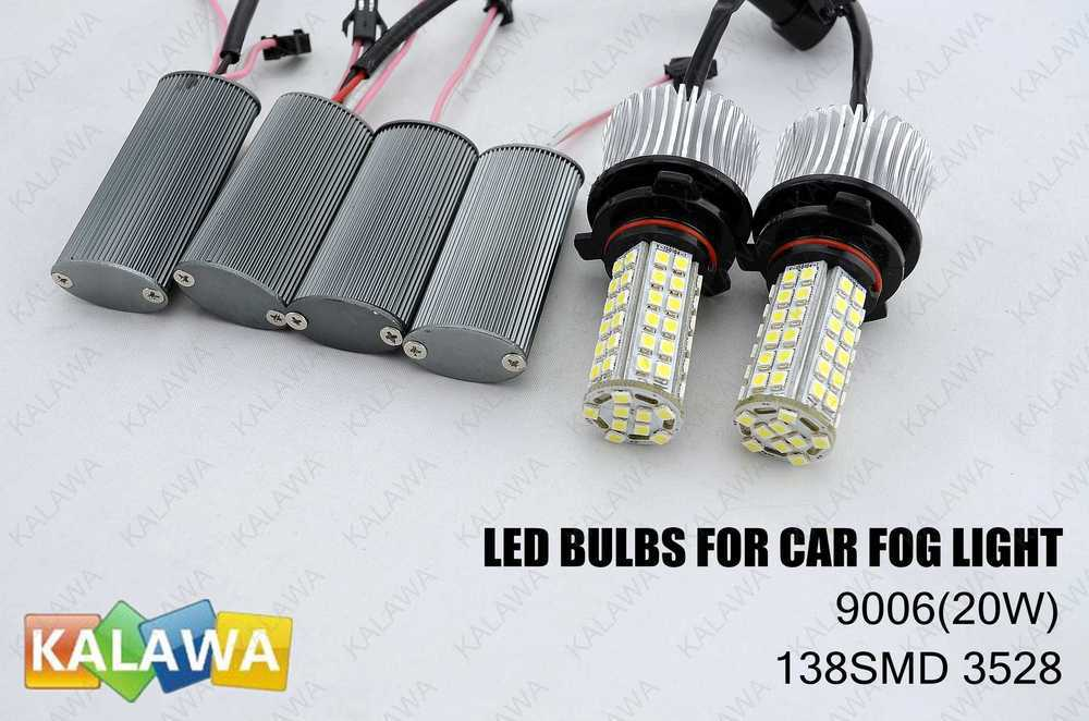 One pair 9006 138SMD-3528 Fog Light Automotive Led Auto Bulb,Led Auto Lamp,Led Car Lighting GGG 0 9m smd 3528 90 leds waterproof led rope light festival lighting