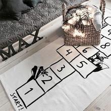 משחקי תינוק מחצלת סריג מכתב מודפס לשחק מחצלות כותנה משחקים שטיח חדר קישוט ילדי מצעי צעצוע ילדים מתנה מספר מחצלת