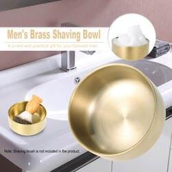 1 шт. Новая мужская металлическая для бритья чаша Парикмахерская латунная кружка для мыла чашка для чистки лица мыльница для бритвы