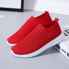 outdoor mesh sneakers women summer casual flat walking shoes new fashion lightweight breathable black and white sport shoes 35-42 Outdoor Sock Sneakers Women Casual Flat Walking Shoes Fashion Lightweight Breathable Black and White Sport Shoes for Women
