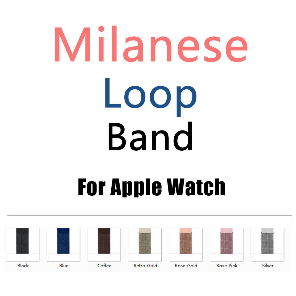 Stainless Steel Milanese Loop Band for iWatch Strap 42MM 38MM for Apple Watch band Series 3/2/1 eastar milanese loop stainless steel watchband for apple watch series 3 2 1 double buckle 42 mm 38 mm strap for iwatch band