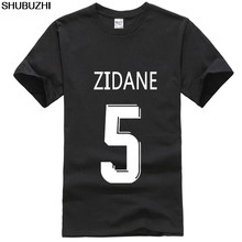 Shubuzhi madrid stad de hero man zidane voetballer golden boot Mr soccersing legend speler NR 9 5 heren pride dark? t-shirt(China)