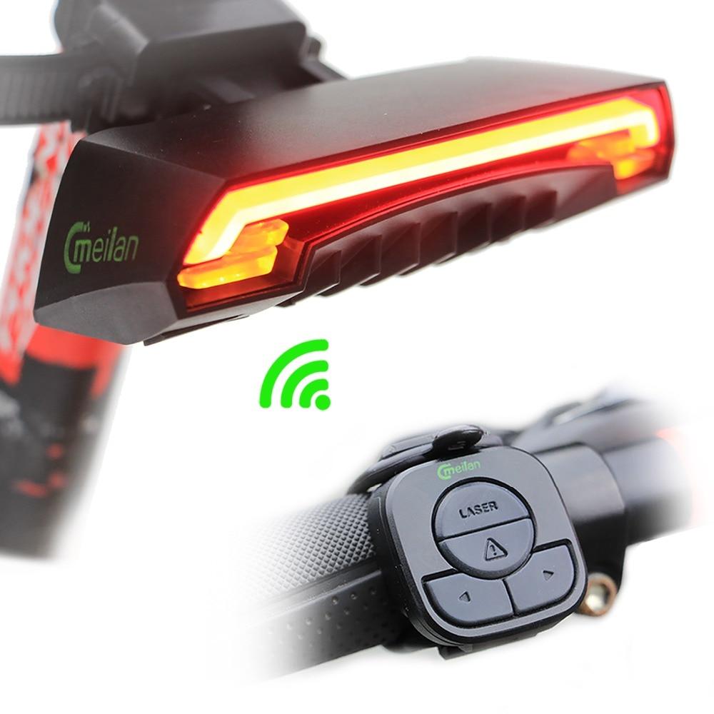 Smart Bicycle font b Light b font X5 Remote Wireless Rear font b Light b font