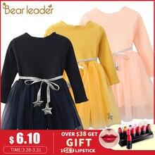 900869c3f Bear leader/платье для девочек, платье принцессы с пентаграммой, брендовая  одежда для девочек, детская одежда, платья для девоче.
