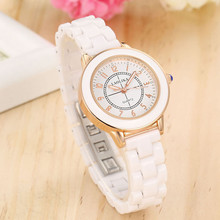 купить ZELING Ceramic watch women's brand quartz watch  wrist watches for women  Bracelet Clasp  Fashion & Casual  Chronograph по цене 784.72 рублей