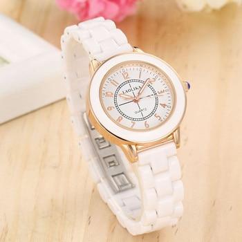 ZELING Ceramic watch womens brand quartz  wrist watches for women Bracelet Clasp Fashion & Casual Chronograph