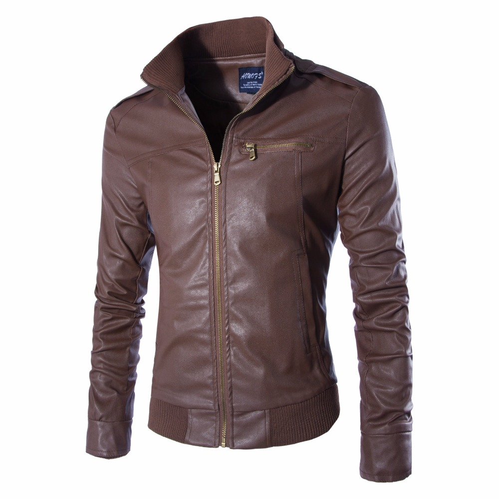 New Fashion PU Leather Jacket Men Jaqueta De Couro Masculina Brand Mens Jackets And Coats Skinny Fitness Motorcycle Jacket