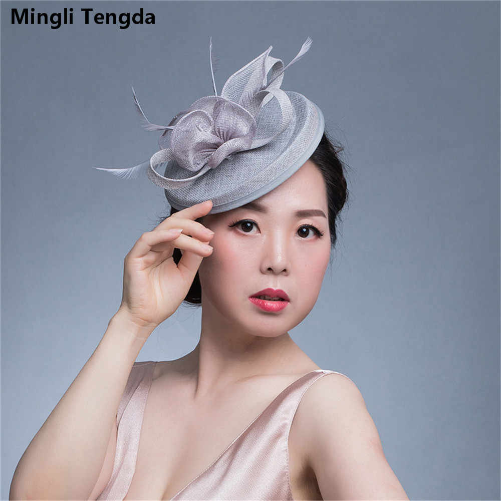 c85602b12dbb0 Mingli Tengda 2018 Red Elegant Bridal Hats Fascinators Hats Wedding chapeau  mariage Wedding Hats for Brides
