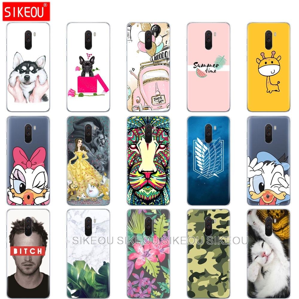 Soft-Silicone-Case Phone-Shell Xiaomi Cases Cute for F1 Poco TPU Global-F-1