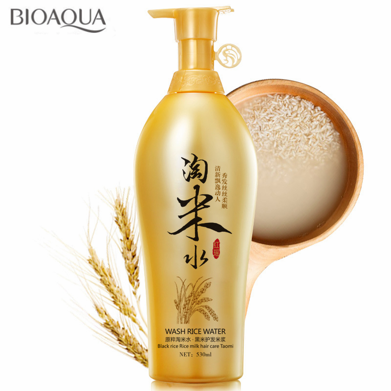Traditional Wash Rice Water Hair Shampoo Black Rice Milk Hair Care Products Anti Dandruff Oil-control Itching Treatment 530ml