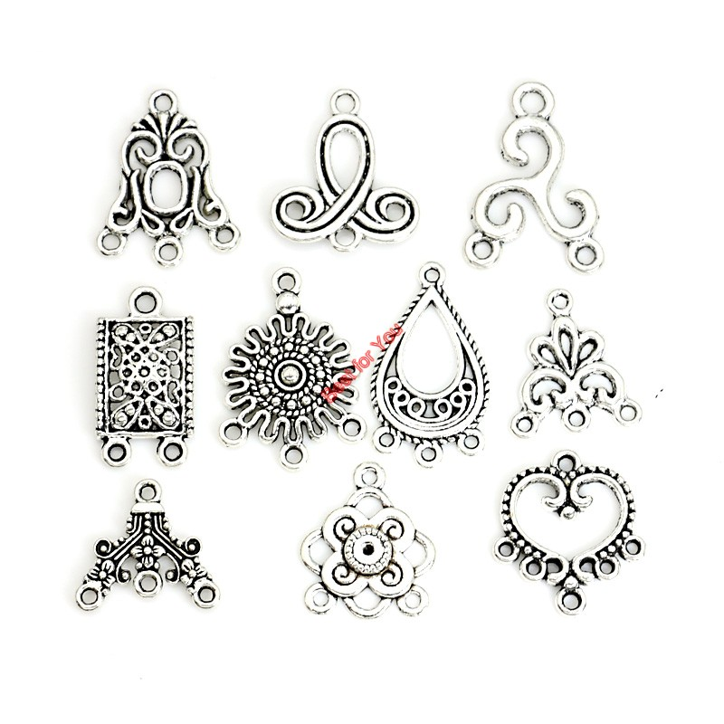 Mixed connector charms antique silver plated pendants for jewelry mixed connector charms antique silver plated pendants for jewelry making accessories craft diy handmade jewelry findings in jewelry findings components aloadofball Gallery