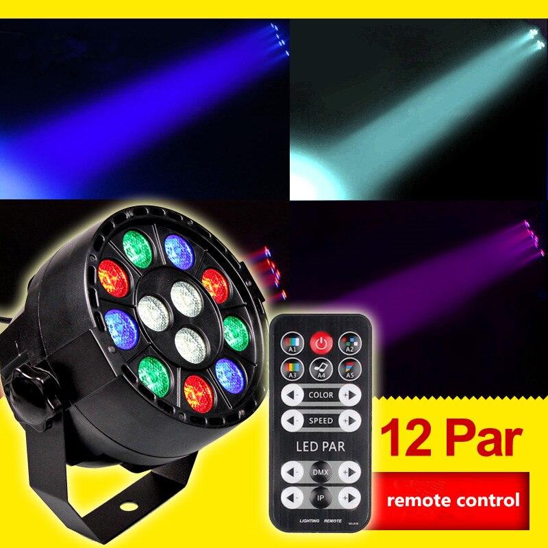 Remote control 12 LED par light sound full color cast light background DISCO spotlight wedding performance stage lamp KTV bar