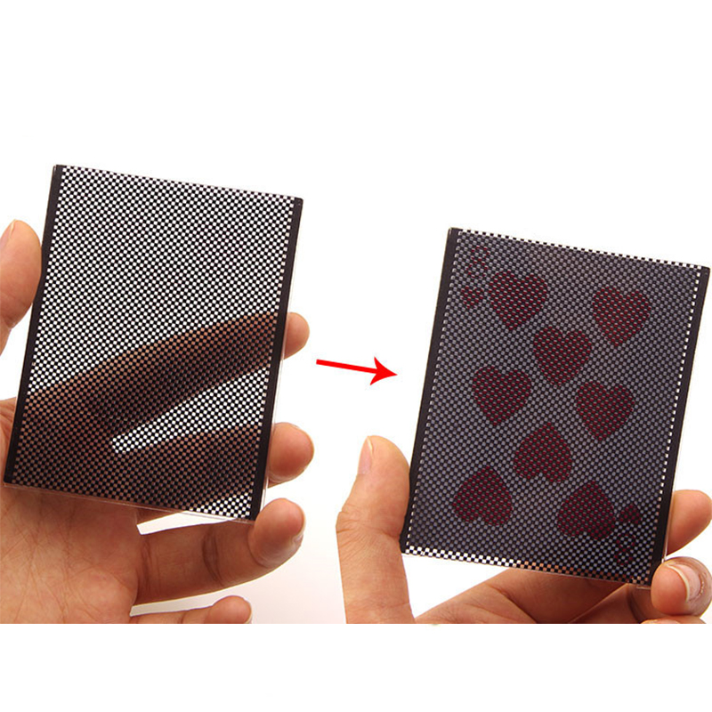 Funny WOW Poker Card Magic Trick  WOW Card Wonderful Vanish Illusion Change Sleeve Close-Up Street Magic Trick