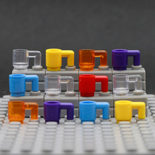 City Accessories Cup Building Blocks Cup Beer Glass Mug Bottle Figure Assemble Parts Bricks Toys Compatible LegoINGlys Friends(China)
