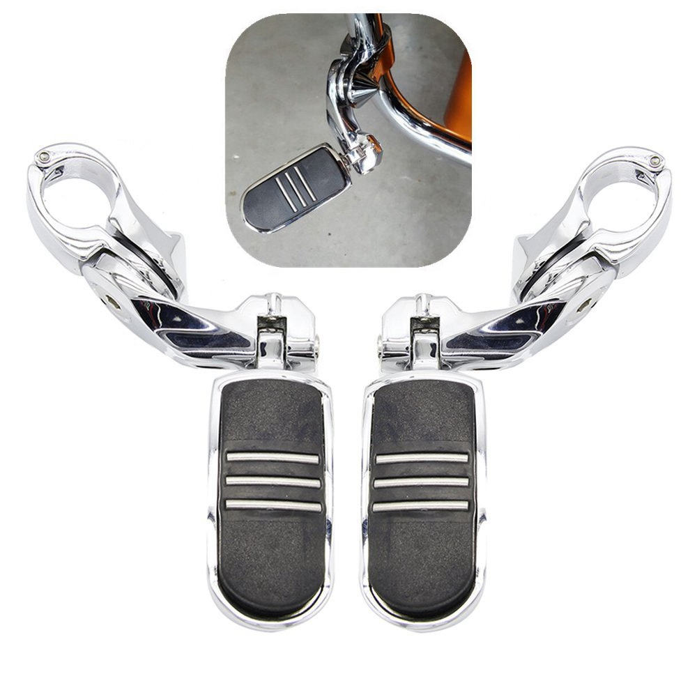 Motorcycle Highway Pegs Footpeg For Harley Short Angled Electra Road King Street Glide Touring Model