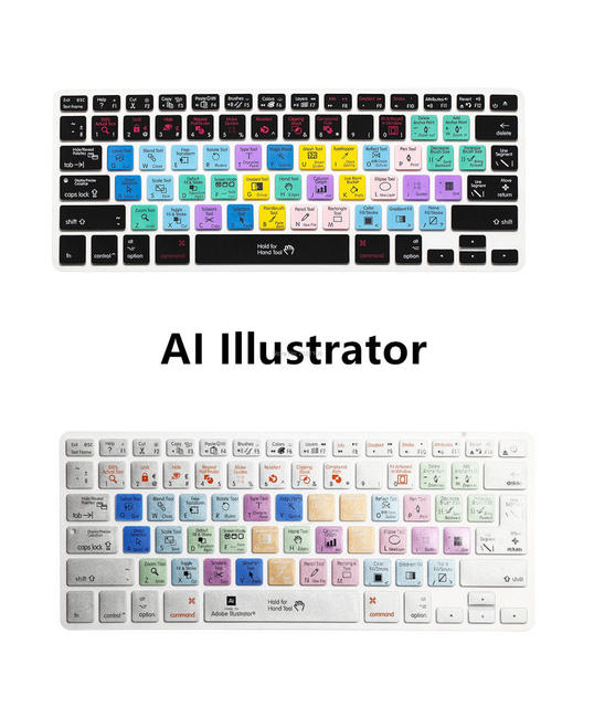 Adobe illustrator ai atalho do teclado tampa da pele para o macbook air pro  13 15 c895d78a8c