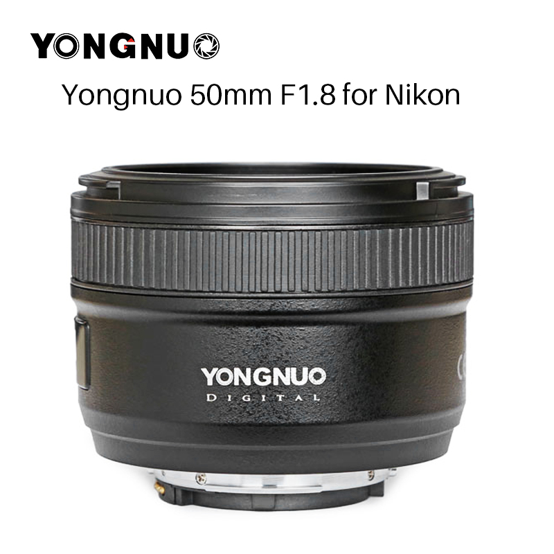 NEW YONGNUO YN50MM F1.8 Camera Lens for Nikon D800 D300 D700 D3200 D3300 D5100 D5200 D5300 Large Aperture AF MF DSLR Camera Lens-in Camera Lens from Consumer Electronics    1