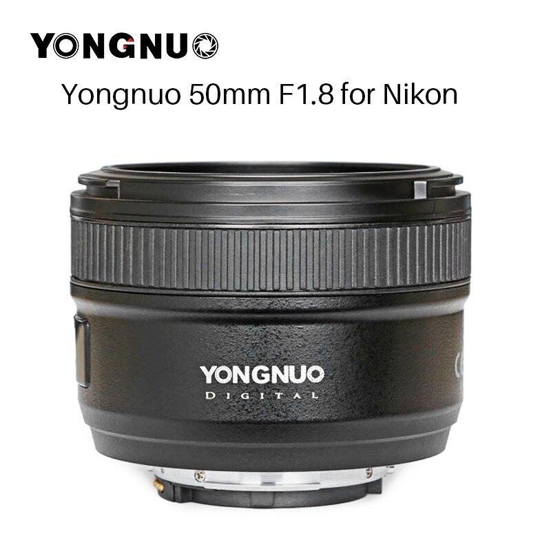 Nouvel objectif de caméra YONGNUO YN50MM F1.8 pour Nikon D800 D300 D700 D3200 D3300 D5100 D5200 D5300 objectif de caméra DSLR AF MF à grande ouverture