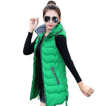 Women Warm Hooded High collar Vest  Women's Casual Slim Vest Cotton Waistcoat Sleeveless Vest Big Size 4XL 6 Color SS192